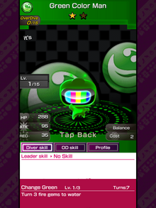 128 Green Color Man