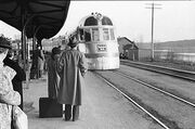 The Burlington Zephyr. East Dubuque, Illinois, LOC image