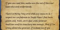 Captain's Note