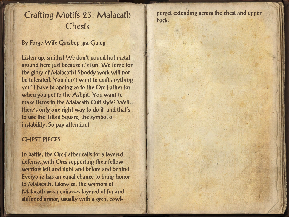Eso Crafting Motifs List