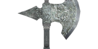 Silver Battle Axe (Oblivion)