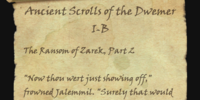 Ancient Scrolls of the Dwemer I-B