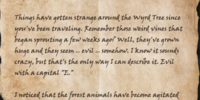 Letter to Wyress Gwen