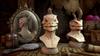 Lizard Rhinoceros Head Adornment