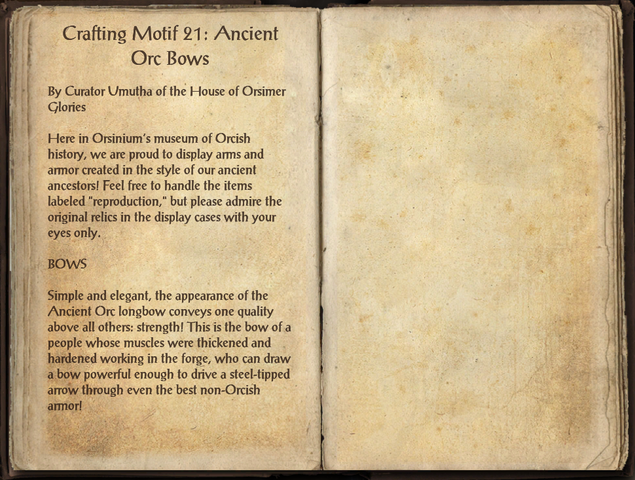 File:Crafting Motifs 21, Ancient Orc Bows.png