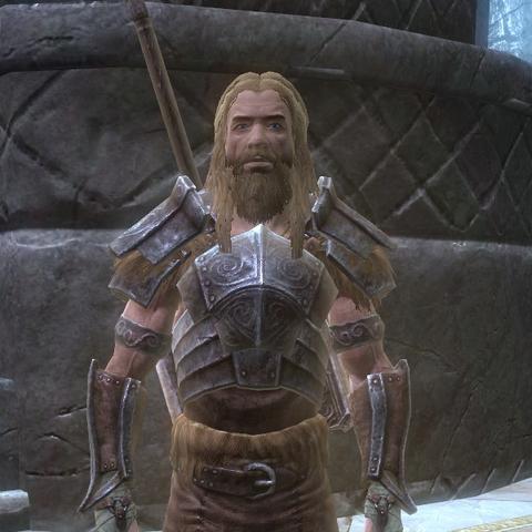 Ysgramor w Sovngardzie, na jego plecach widać Wuuthrada