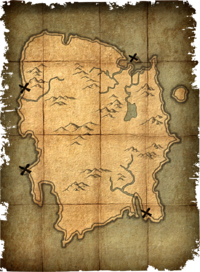 Deathbrand treasure map
