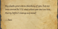 """Forged Letter From """"Zali"""""""