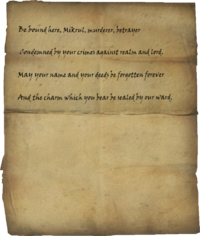 Writ of Sealing Mikrul