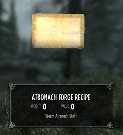 TESV Atronach Forge Recipe