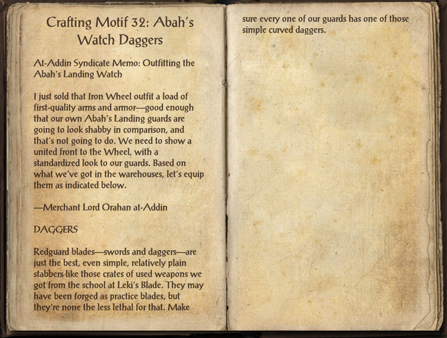 File:Crafting Motifs 32, Abah's Watch Daggers.png