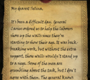 A Letter to Selina I