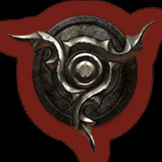 Herb Dunmerów symbolizujący członków Trójcy