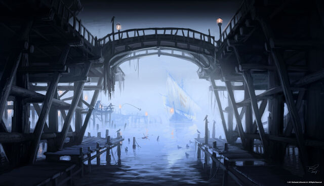 Fichier:Riften Pier Concept Art.jpg
