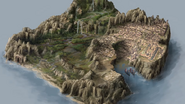 Hew's Bane 3D Map