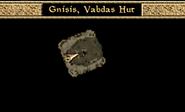 Gnisis, Vabdas Hut Interior Map Morrowind