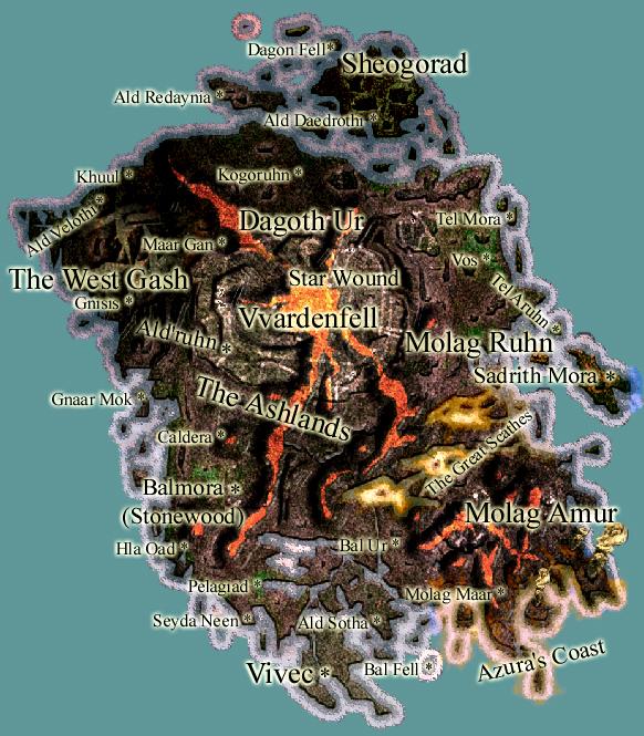 """Résultat de recherche d'images pour """"Morrowind carte"""""""