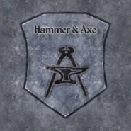 TESIV Sign Hammer and Axe