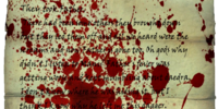 Bloodstained note