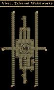 Vivec, Telvanni Waistworks Interior Map Morrowind