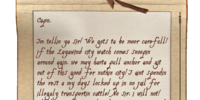 Note from First Mate Filch