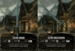 Silver weapons