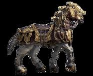 Armored Dwarven War Horse