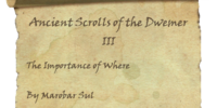 Ancient Scrolls of the Dwemer III