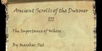 Ancient Scrolls of the Dwemer III
