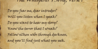 The Whisperer's Song, Verse 1