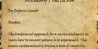 Alchemy Practicum