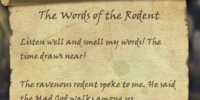 The Words of the Rodent
