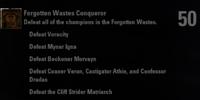 Forgotten Wastes Conquerer