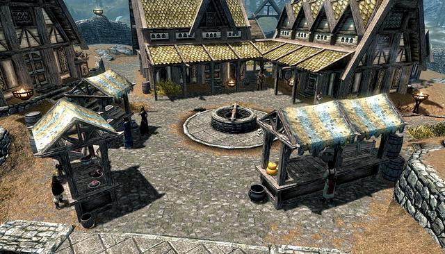 File:Whiterun Skyrim Market.png