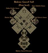 Redoran Council Hall First Level Interior Map