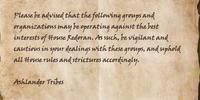 House Redoran Advisory