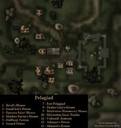 TES3 Morrowind - Pelagiad - locations map