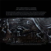 Skyrim Soundtrack Cover Back
