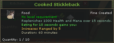 Cooked Stickleback