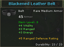 Blackened Leather Belt