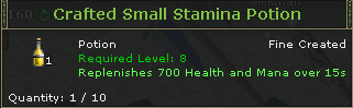 Crafted Small Stamina Potion