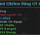 Improved Citrine Ring Of Archery