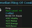 Carnelian Ring Of Combat