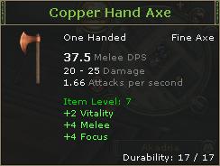Copper Hand Axe