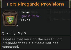Fort Piregarde Provisions