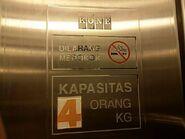 Kone nameplate Bandung, ID