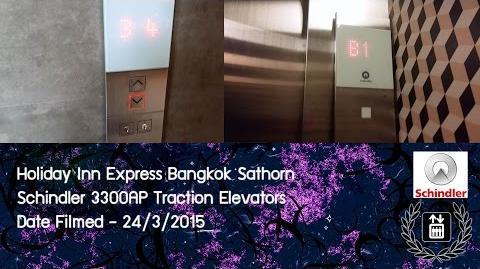 EPIC Schindler 3300AP Traction Elevators @ Holiday Inn Express Bangkok Sathorn