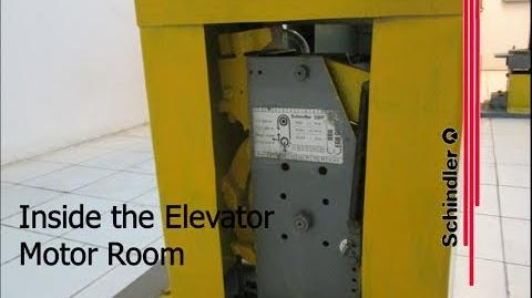 Inside the Elevator Motor Room - 2005 Schindler Traction Elevators