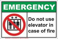 EmerH007 do not use elevator in case of fire