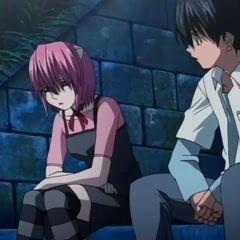 Kouta and Lucy. The love that will never be... Still a better love story than Twilight, though.